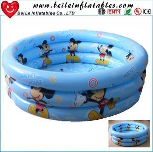 China DIY size 3 rings inflatable baby swim pool air bath tube on sale