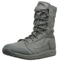"Mens Tachyon 8"" Military Boots Soft Black Cow Leather Slip - Resistant Outsole"