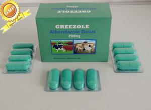 China synthetic anthelmintic animal medicine veterinary drugs Albendazole Bolus 2500mg/600mg/300mg on sale