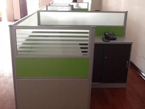 China Modular Desk Commercial Office Furniture Sets PVC Edge Sealing Scratch Resistant on sale