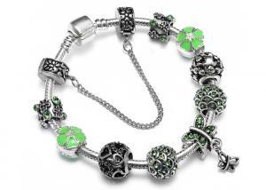 China Dragonfly Diamond Beaded Bracelet Pastoral Series Crystal Flower Bracelet on sale
