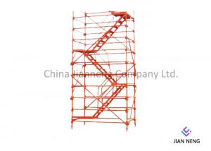 China Spray Painted Scaffold Stair Tower Φ 48mm Diameter For Bridges Construction on sale