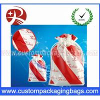 China Waterproof Plastic Custom Printed Drawstring Bags For Clothing And Shose Packing on sale