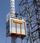 O elevador galvanizado da grua da construção da cremalheira e do pinhão equipamento de levantamento levanta/construção