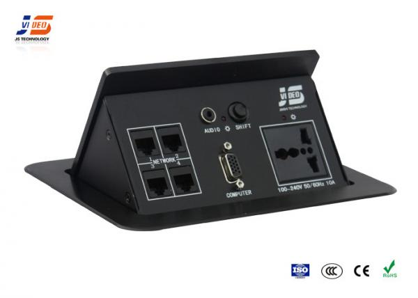 AC Power POP Up Tabletop Interconnect Box Conference Table - Conference table with outlets