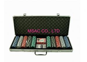 China ABS Aluminum Silver 500 Poker Chip Case / Chip Boxes With Foam Insert on sale