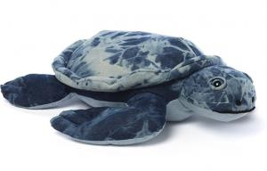 China Super cute upcycled turtle polyester stuffing Denim Toys 6 inches For kids on sale