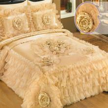 China luxury lace wedding bedspreads on sale