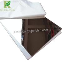 China 0.03-0.22mm White Self Adhesive Protective Film for Stainless Steel Mirror Finish on sale
