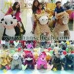 Hansel battery mechanical walking animal rides with token opearted for kids in mall