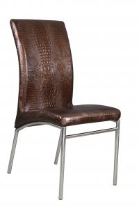 China china manufacturer chromed-plated soft leather Ding chair for restaurant C317 on sale