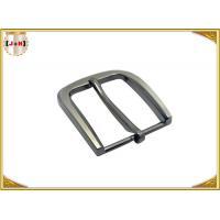 35MM Pearl Nickel Brushed Custom Metal Die Casting Belt Buckle For Men