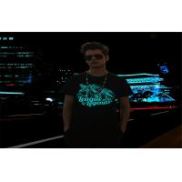 Disco , Party , Concert Electroluminescent Products EL Flashing T - Shirt