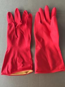 China RED industrial rubber gloves thick cleaning gloves hand protecting equipment on sale