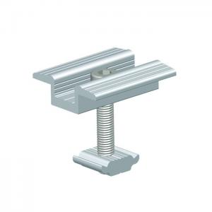China Frameless Thin Film Solar Panel Clamps Semi Flexible Mounting Brackets Anodized Surface For PV Mounting on sale