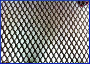 China 5 X 5mm Diamond Aluminum Expanded Metal Mesh 18 - 50 Meter Long Customized Color on sale