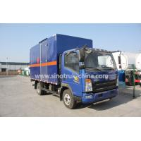 116HP multi color Light Duty Commercial Trucks  , HOWO 4*2 Light cube van truck