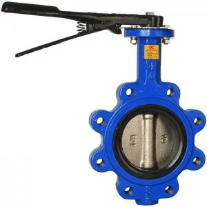 China Lug Style API609 Electric Actuated Butterfly Valve on sale