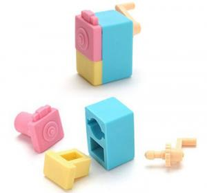 China Take Apart Erasers With Pencil Sharpener Shape For Children on sale