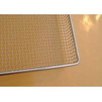 304 SS Perforated Wire Mesh Tray Light Weight With Grit Blasting , 100cm*50cm*20cm
