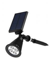 China Exterior Solar Lighting Spotlights , 4 Pc Led Solar Spot Lights Outdoor 200 Lumen on sale