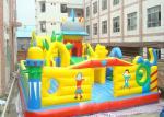 Подгонянный цветастый раздувной оживлённый замок, спортивная площадка малышей раздувная