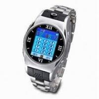 China Stainless Steel USB Bluetooth GPRS Wrist Watch Cell Phones Support Video Chat on sale