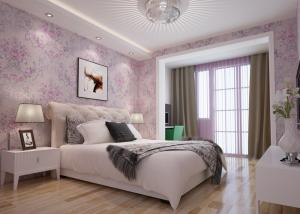 China Beautiful Floral Pattern Country Style Wallpaper Embossed for Bedroom 0.53*10M on sale