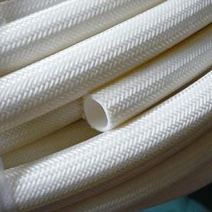 China Extruded silicone Fiberglass Sleeving on sale
