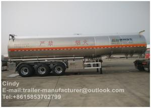 China 45000 Liters Stainless Steel Fuel Tanker Trailer 11500 *2500*3980 Size on sale