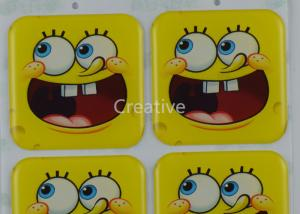 China Custom Epoxy Stickers Rectangle Full Color Cartoon Resin Dome Stickers on sale