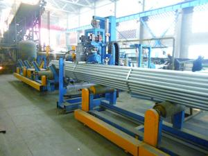 China Pipe Horizontal Packing Machine Tube Mill Auxiliary Equipment Blue Colour on sale