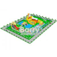0.55mm PVC Material Giant inflatable water park projects , amusement park design