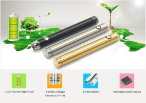 China Li - Ion Polymer E Cigarette Battery ADV 2 Necks For 510 Thread Cartidge No Button on sale