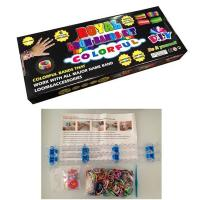 Rubber Band Sports Silicone Bracelets Customized Color Rainbow Loom Kit