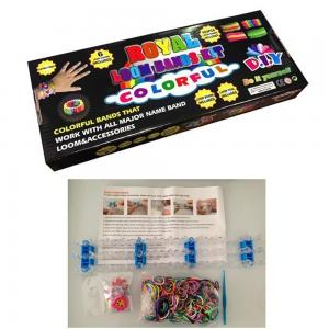 China Rubber Band Sports Silicone Bracelets Customized Color Rainbow Loom Kit on sale