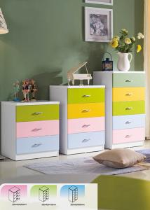China E1 MDF Board Option Color Chest With 3 Door to 5 Door for Kids Furniture on sale