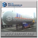 59520L 25T 3 Axles Semi Tanker Trailers 12 Wheels LPG Gas Tanker