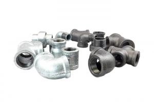 China En 10242 Malleable Cast Iron Pipe Fittings Galvanized Iron Fittings For Water Supply on sale