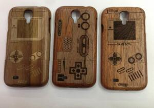 China Bamboo Wood Samsung Galaxy S4 Metal Case Durable With Custom Logo Priting on sale