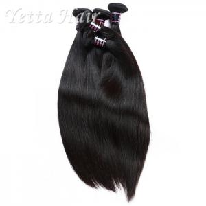 China Natural Color Straight Indian Hair Extensions , Grade 7A Virgin Hair With Soft And Luster on sale