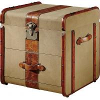 Home Storage Bedroom Leather Trunks Chests1 Drawer Solid Wood Bar Decoration