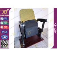 Fixed Leg Foldable Movie Theater Seats With Writing Table , Plastic Church Chairs