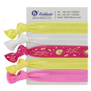 China Diy Kids Yellow Thick 16mm Ponytail Elastic Hair Bands on sale