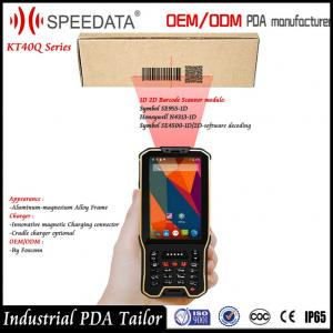 China Dual Sim Card 4G Android handheld computer barcode scanner with NFC RFID Reader on sale