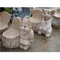 Exquisite & Cute Small Stone Bench, Granite Stone Carving & Sculpture
