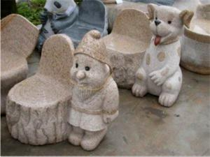 China Exquisite & Cute Small Stone Bench, Granite Stone Carving & Sculpture on sale