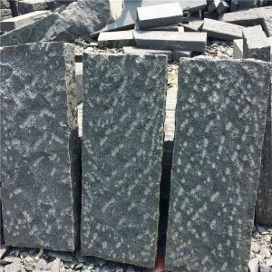 China China Granite Kerbstone Dark Grey G654 Granite Curbstone Rough Picked Finish Side Stone on sale