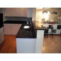 Engineered Granite Tile Kitchen Countertops , Dark Granite Veneer Countertops