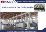 Three Layers PE Pipe Production Machine , HDPE Petrol Pipe Making Machine